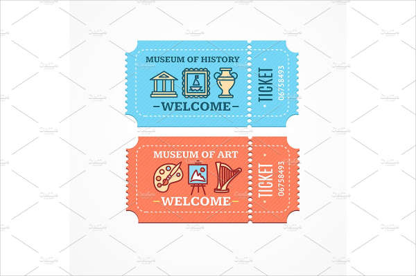 museum entrance ticket template