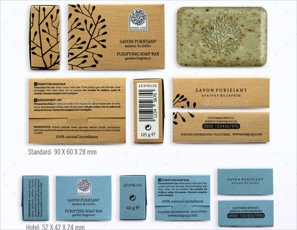 natural soap packaging design