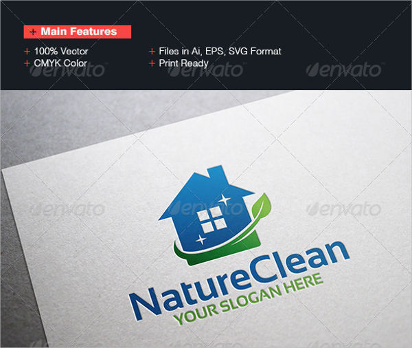 nature cleaning company logo
