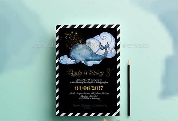 nautical birthday invitation card1