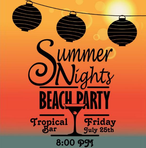 night beach party invitation
