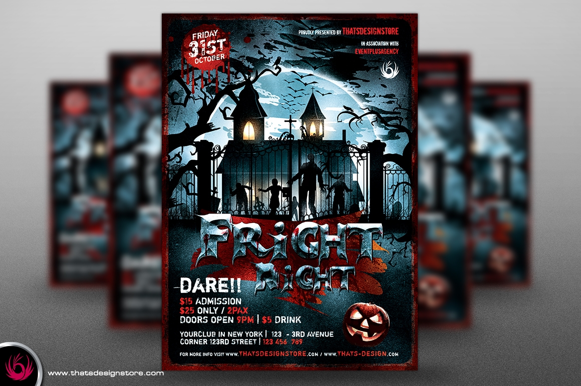 night black halloween flyer