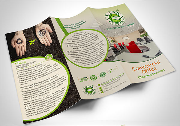 office cleaning service brochure