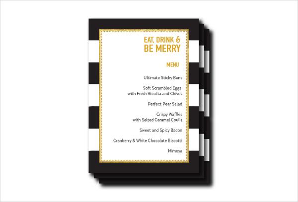 open house event menu template2