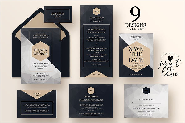 psd wedding place card template download