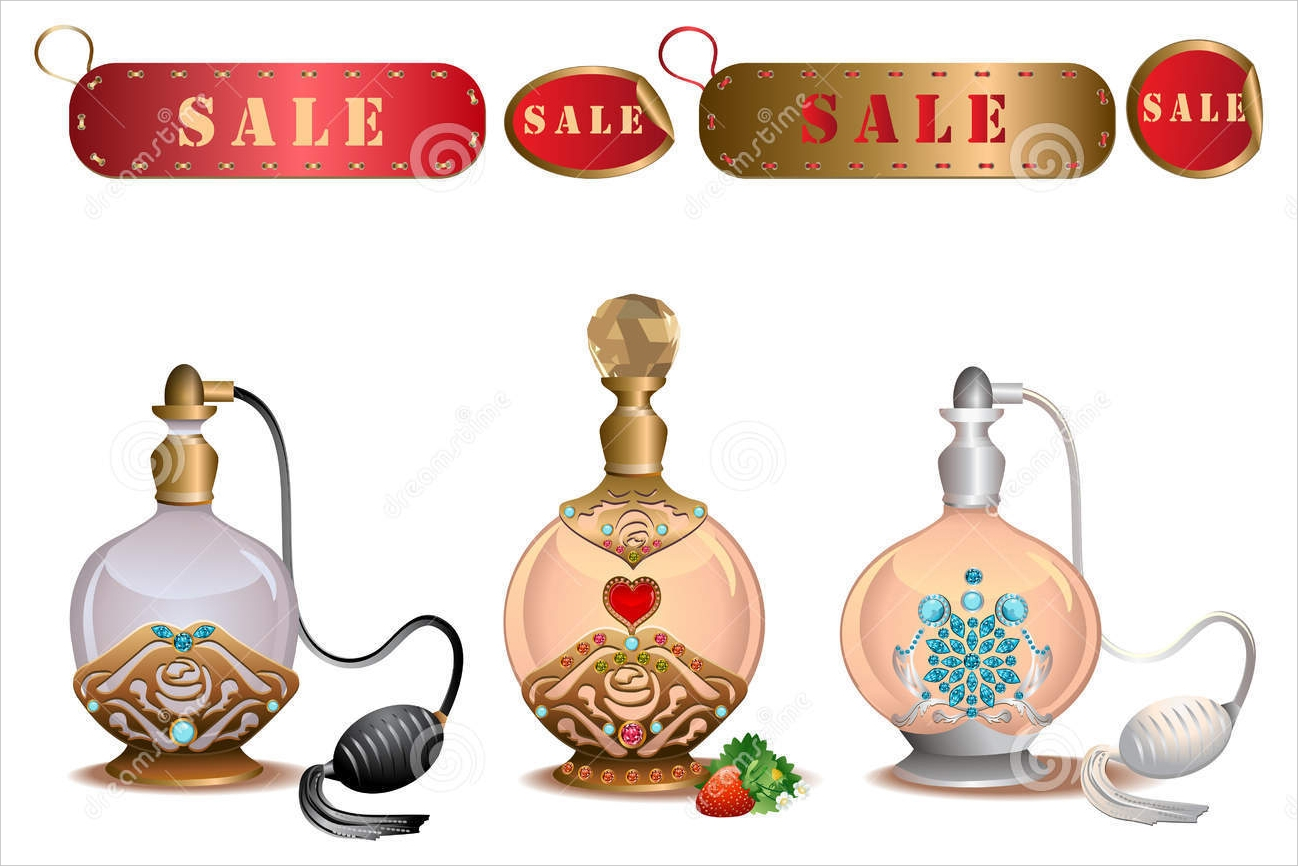 perfume bottle with sale label2