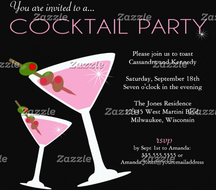 personalized cocktail party invitation