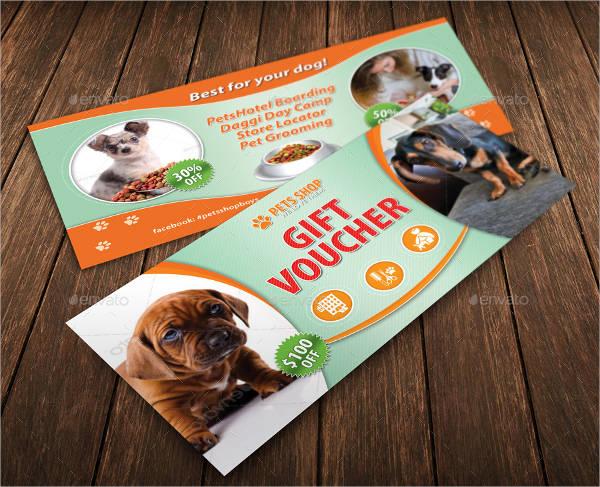 pets shopping gift voucher