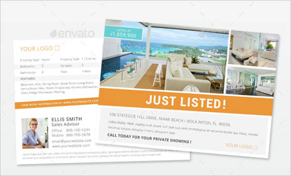 postcard template of luxury real estate