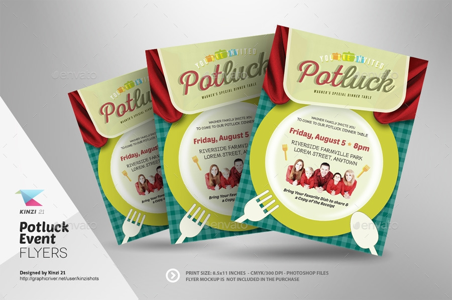 potluck party flyer invitation