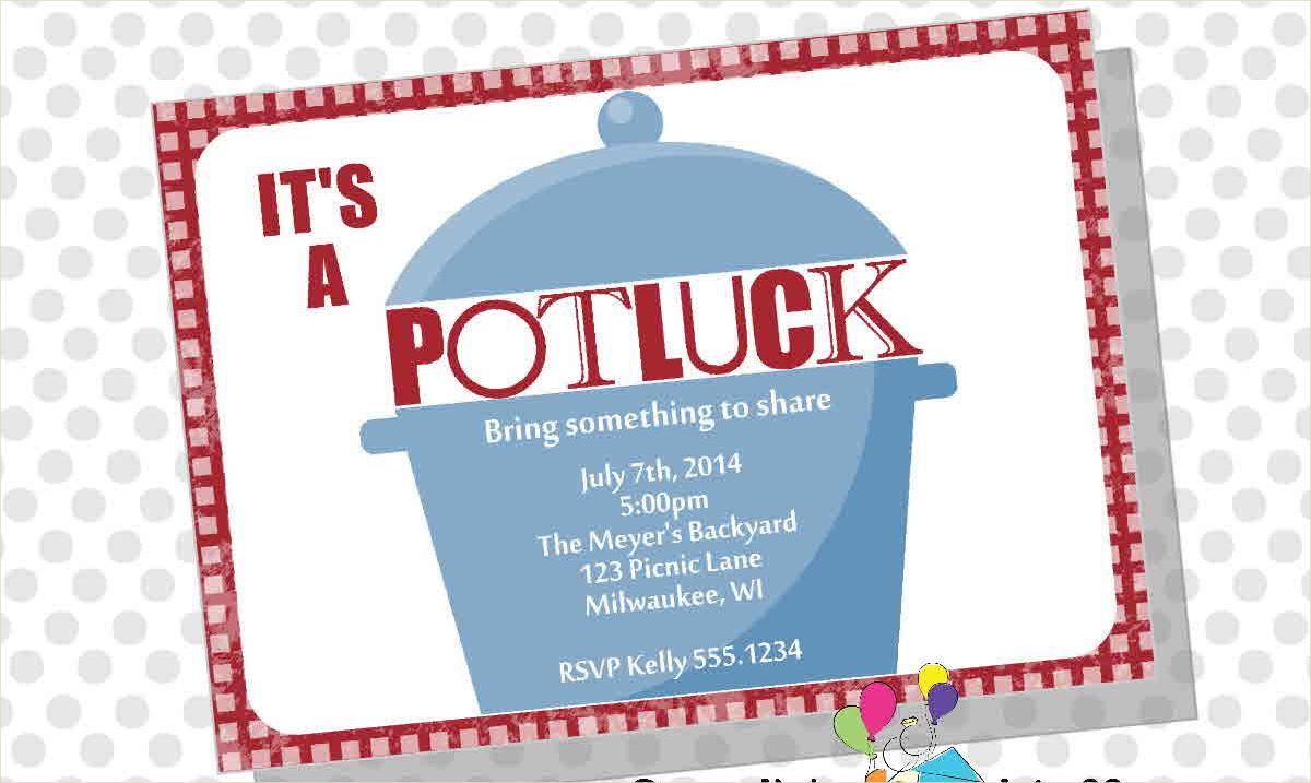 potluck party invitation card