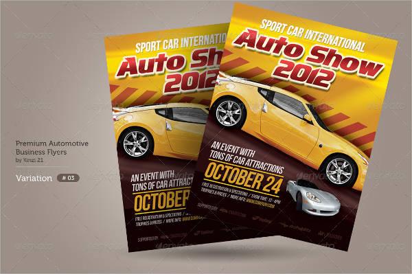 premium automotive business flyer