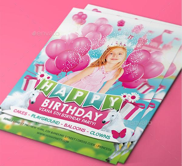 princess kids party invitation