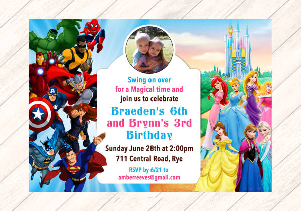 9+ Princess Party Invitations - PSD, PNG, Vector, EPS ...