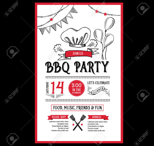 printable bbq invitation flyer