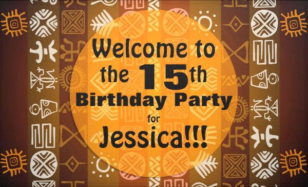 printable birthday invitaion banner