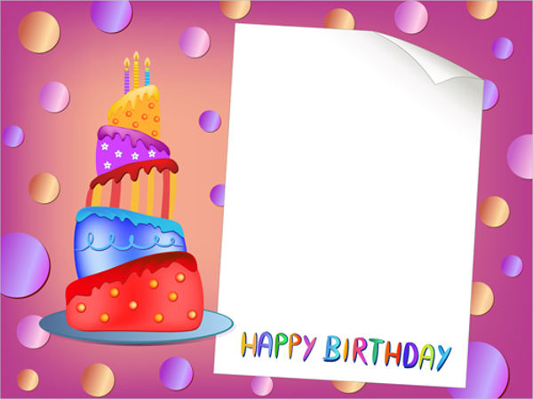 blank birthday card
