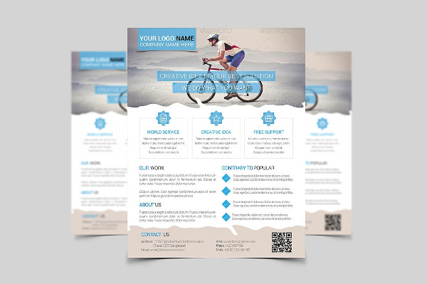 printable clean business flyer
