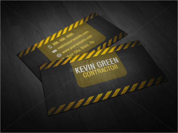 printable contractor business card template