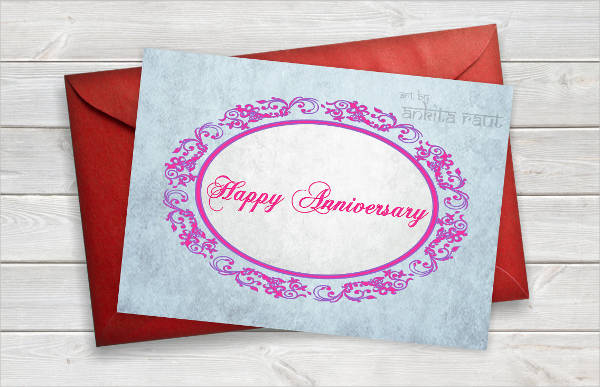 printable happy anniversary card