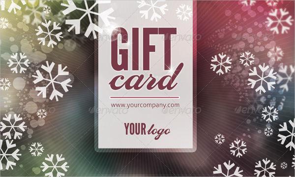 printable holiday gift card