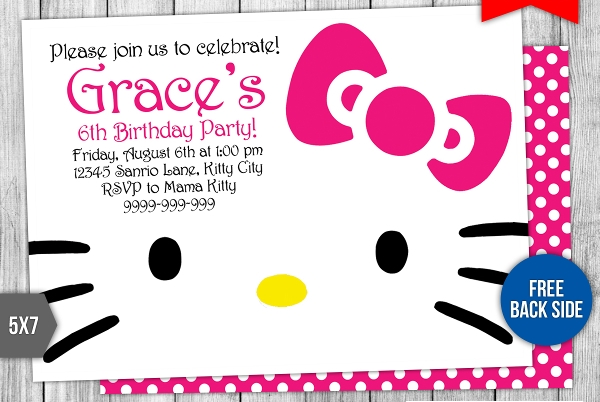 printable kitty party invitation