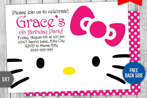 printable kitty party invitation