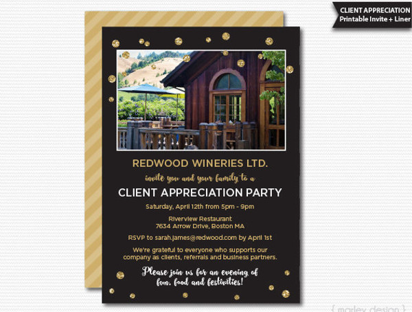 printable office party invitation
