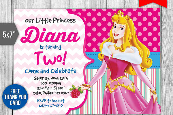 printable princess party invitation