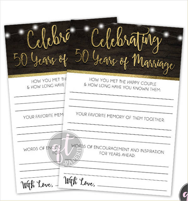 printable wedding anniversary card