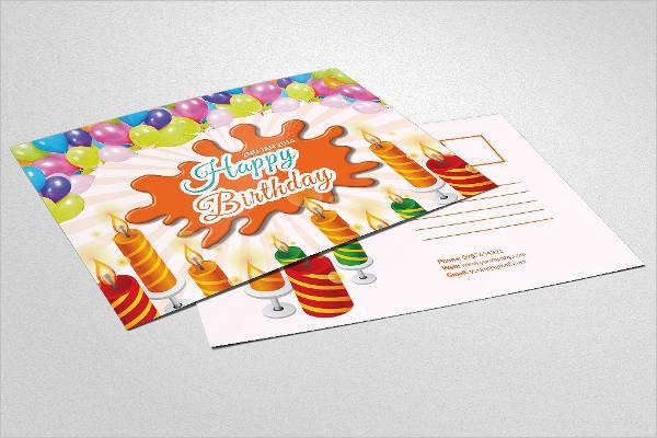 professional birthday postcard template