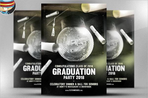 professional graduation flyer