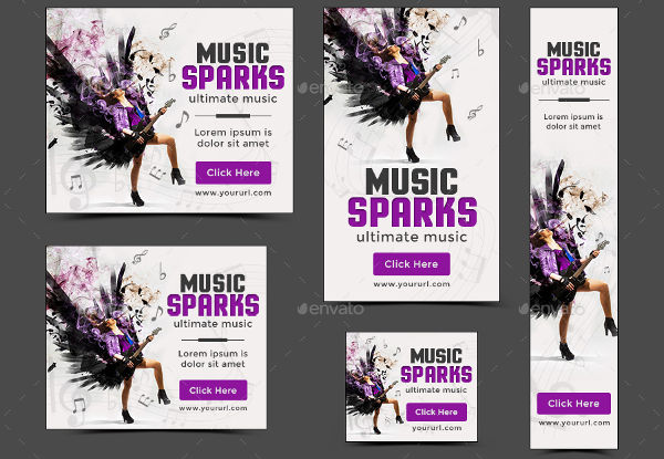 promotional music banner design