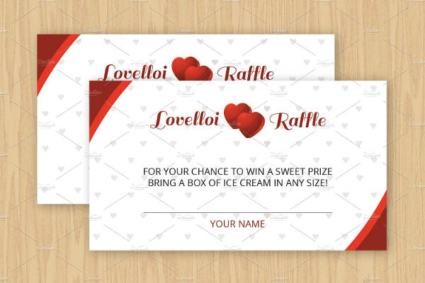 raffle party ticket template