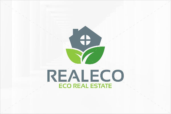 real estate company logo template with tree
