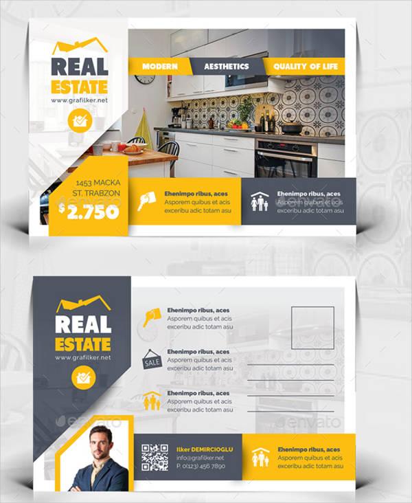 real estate postcard template psd