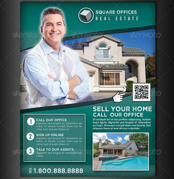 real estate service flyer