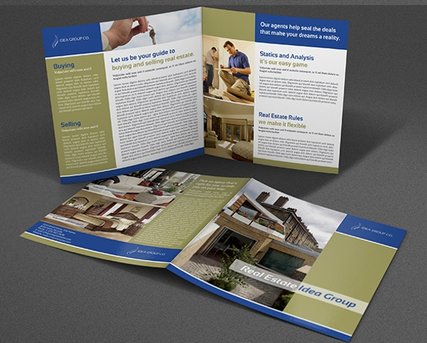 real estate services bi fold template