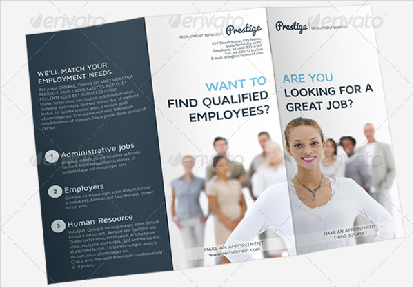 recruitment service tri fold brochure