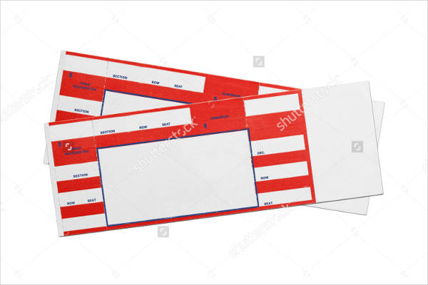 red concert performance blank ticket