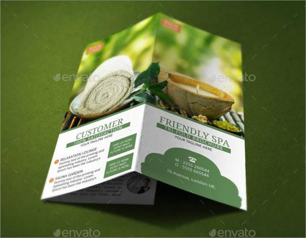 resort spa brochure