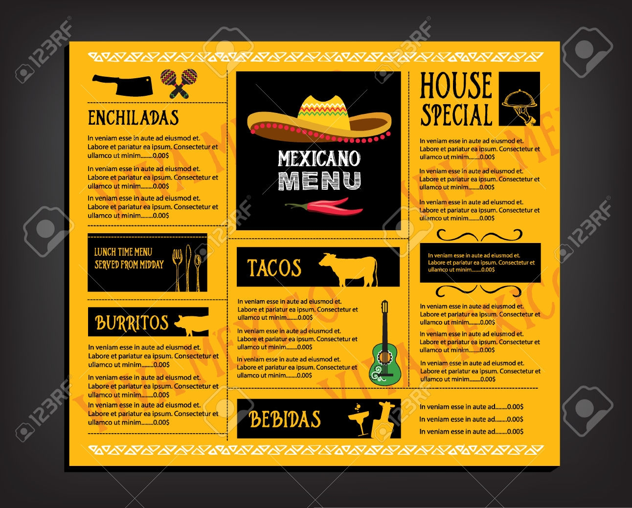 restaurant cafe brochure