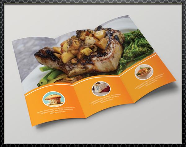 restaurant fast food brochure