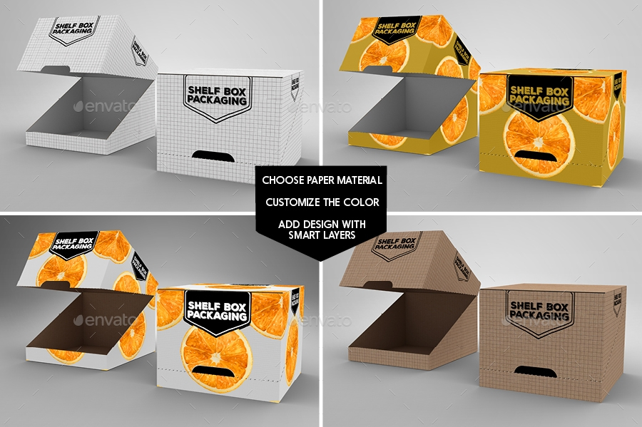retail shelf box packaging design