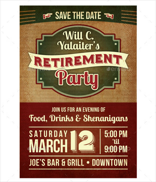 retirement party celebration flyer