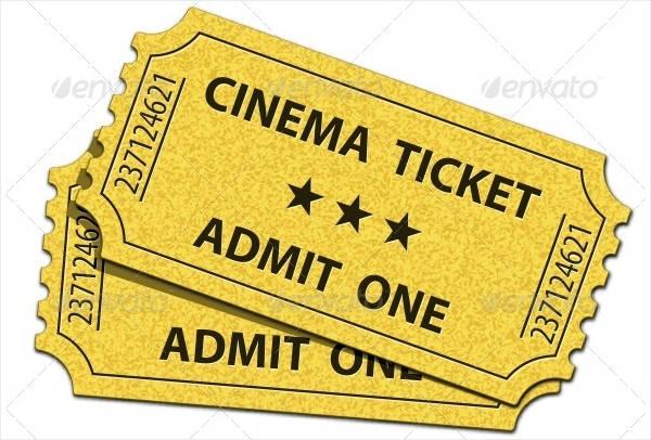retro cinema ticket