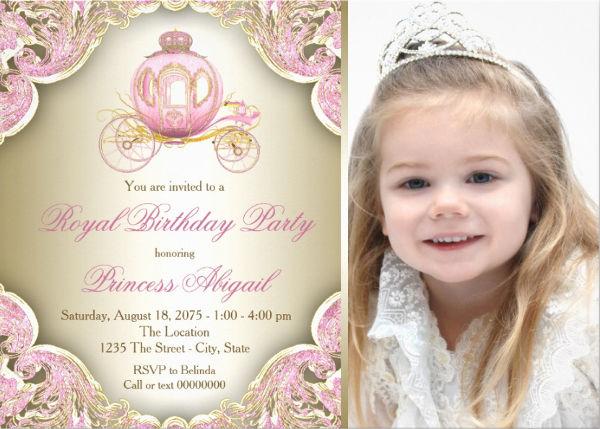 royal princess birthday party invitation1