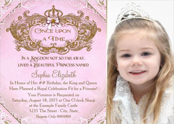 royal princess party invitation