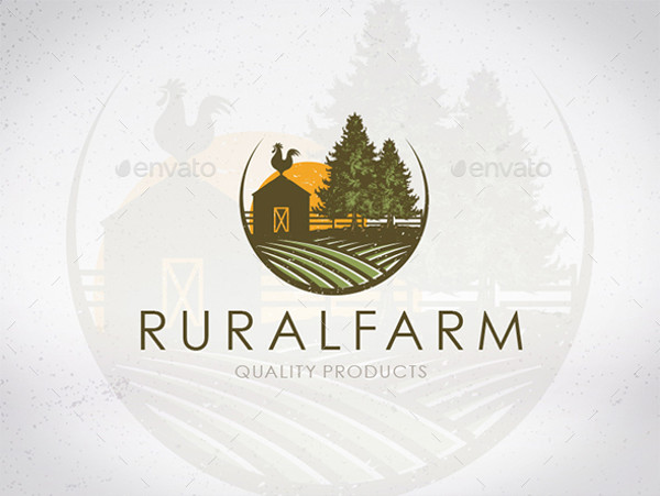 rural farm logo design