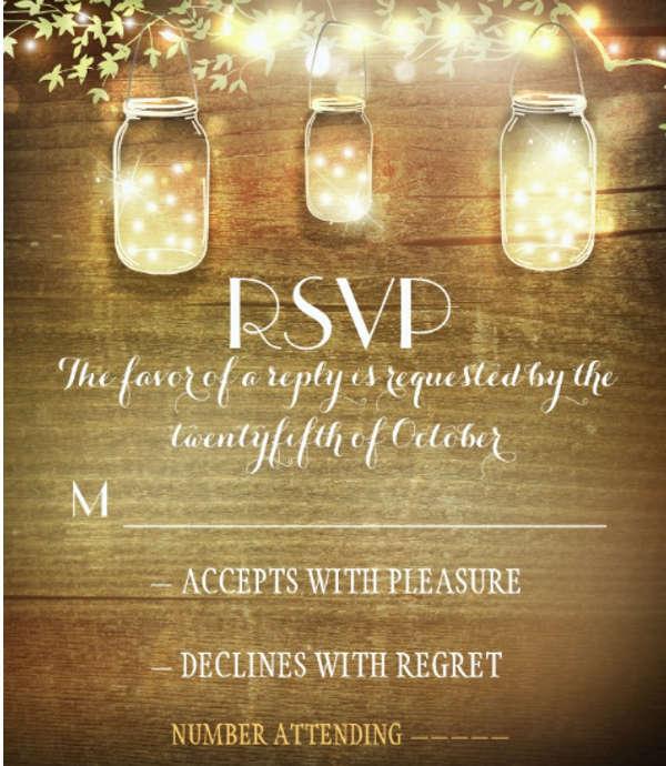 rustic wedding response card wording